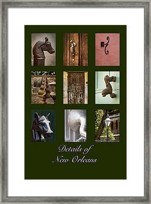 Details Of New Orleans Framed Print by Jean Noren
