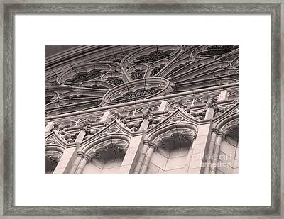 Details Of The National Cathedral Framed Print