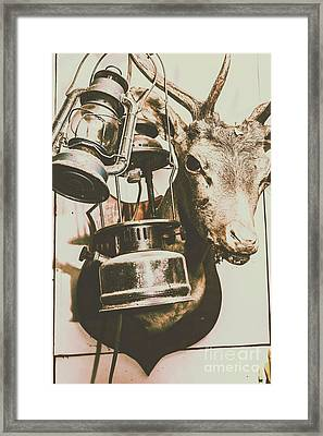 Details On A Spooky Hunters Cabin Framed Print