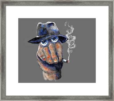 Detective Hand Framed Print