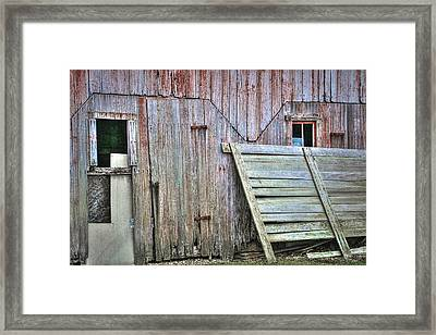 Deteriorated Side Of The Barn Framed Print by William Sturgell