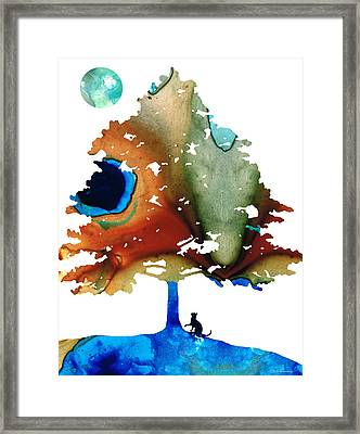 Determination - Colorful Cat Art Painting Framed Print