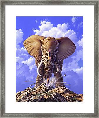 Determination Framed Print by Jerry LoFaro