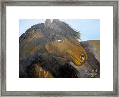 Framed Print featuring the painting Determination by Saundra Johnson