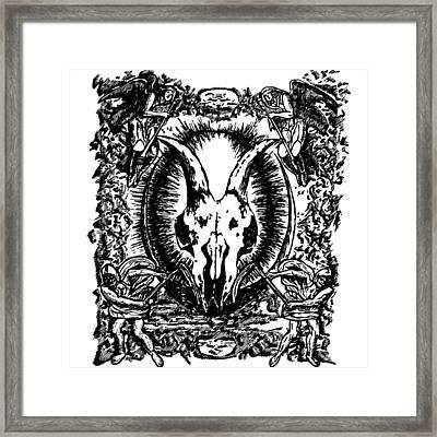 Deth Metal Framed Print by Karl Addison