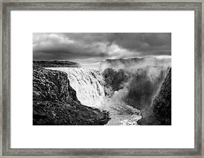 Dettifoss Waterall, Iceland. Framed Print by James Clancy