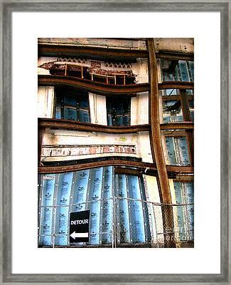 Detour Ahead Framed Print by Colleen Kammerer