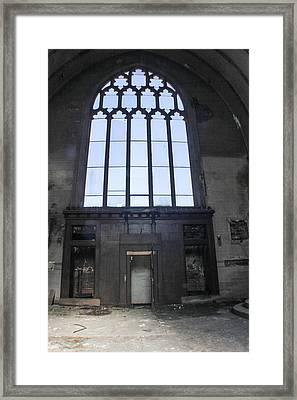 Detroit Abandoned Church Window Framed Print