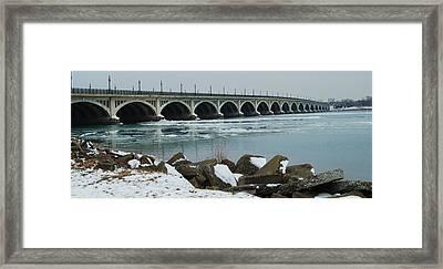 Detroit Belle Isle Bridge Framed Print