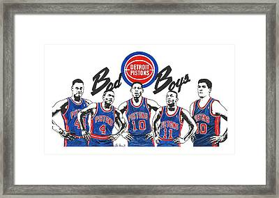 Detroit Bad Boys Pistons Framed Print