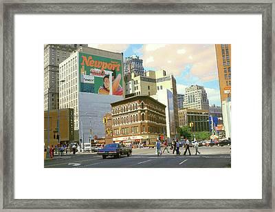 Detroit Michigan 84 - Watercolor Framed Print