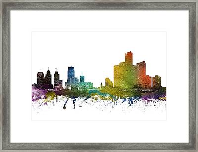 Detroit Cityscape 01 Framed Print by Aged Pixel