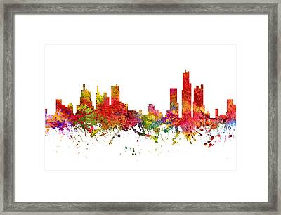 Detroit Cityscape 08 Framed Print by Aged Pixel