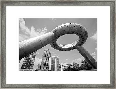 Detroit Dodge Fountain Hart Plaza Framed Print