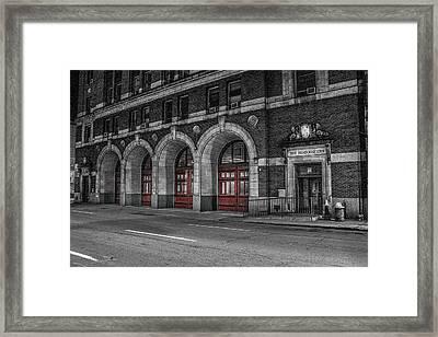 Detroit Fire Department Headquarters  Framed Print