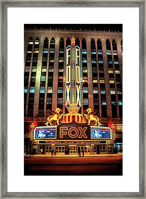 Detroit Fox Theatre Marquee Framed Print