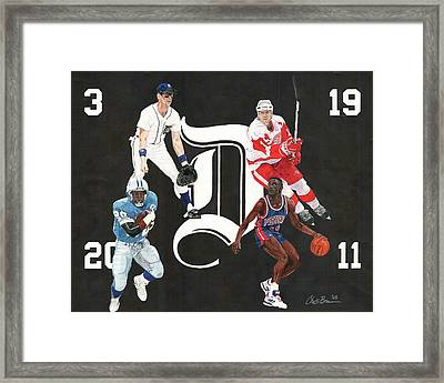 Legends Of The D Framed Print