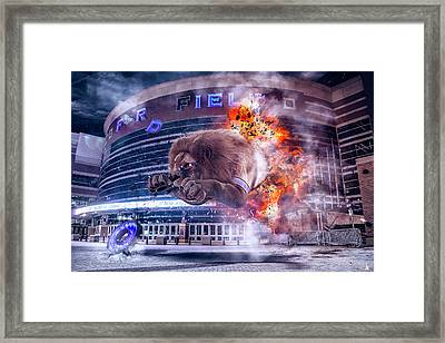 Framed Print featuring the photograph Detroit Lions At Ford Field 2 by Nicholas Grunas