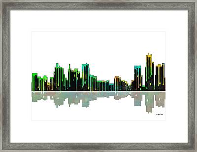 Detroit Michican Skyline Framed Print