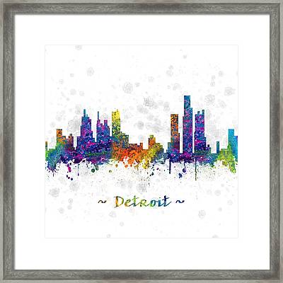 Detroit Michigan Color 03sq Framed Print by Aged Pixel