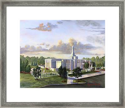 Detroit Michigan Temple Framed Print by Jeff Brimley