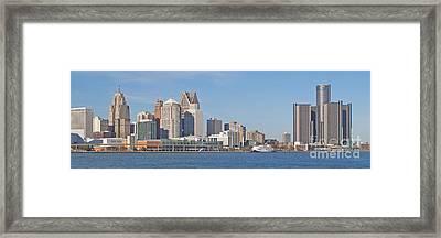 Detroit Panorama Framed Print by Ann Horn