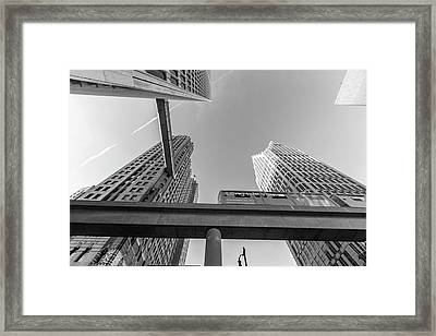 Detroit People Mover And Crosswalk Framed Print