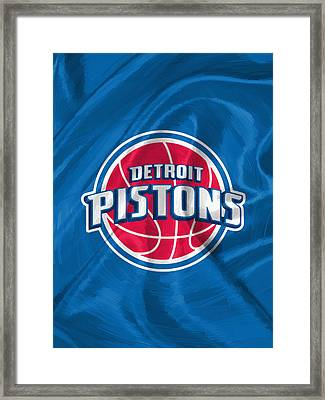 Detroit Pistons Framed Print by Afterdarkness