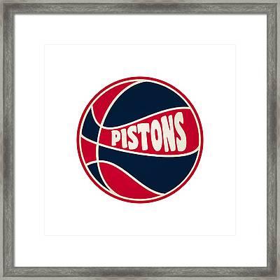 Detroit Pistons Retro Shirt Framed Print