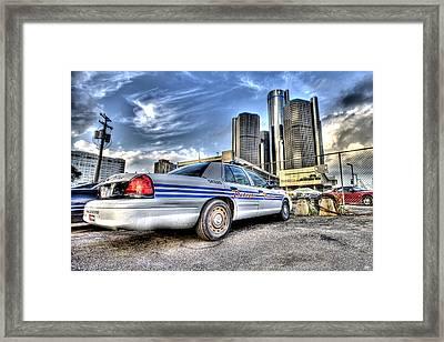 Detroit Police Framed Print by Nicholas  Grunas