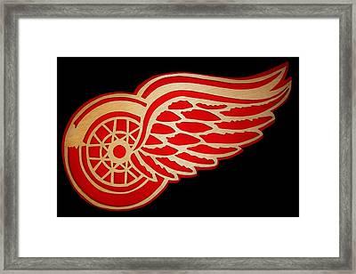 Detroit Red Wings - Scrolled Framed Print by Michael Bergman