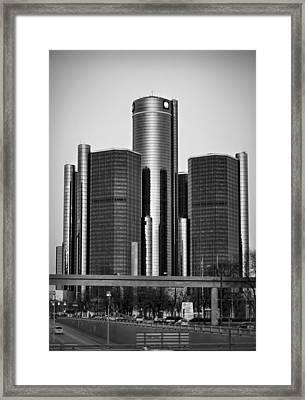 Detroit Renaissance Center General Motors Gm World Headquarters Framed Print by Ryan Dean