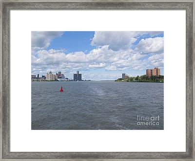 Detroit River Navigation Framed Print by Ann Horn