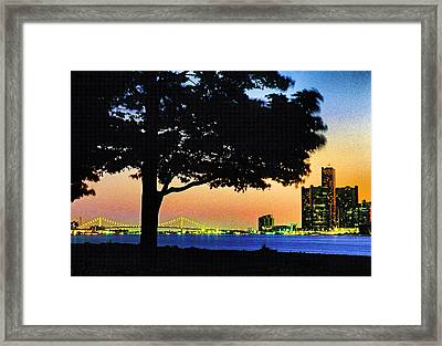 Detroit River View Framed Print by Dennis Cox WorldViews