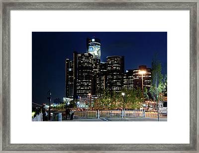 Detroit River Walk Framed Print by Nicole A Talbot