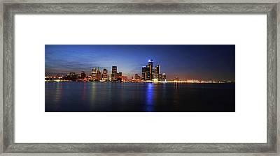 Detroit Skyline 1 Framed Print by Gordon Dean II