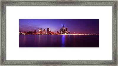 Detroit Skyline 2 Framed Print by Gordon Dean II