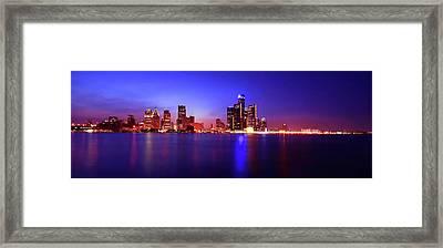 Detroit Skyline 3 Framed Print by Gordon Dean II