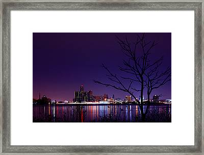 Detroit Skyline Framed Print