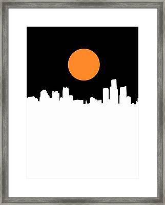 Detroit Skyline Minimalistic 2 Framed Print