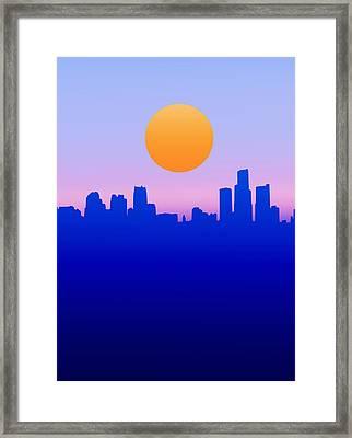 Detroit Skyline Minimalistic Framed Print