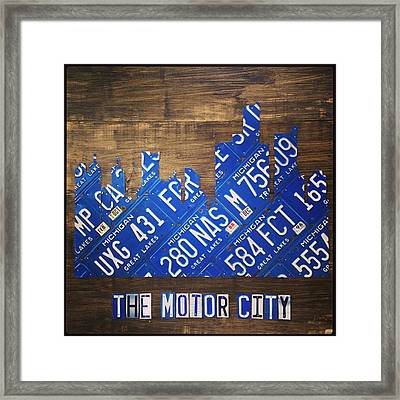 #detroit #themotorcity #michigan #city Framed Print by Design Turnpike