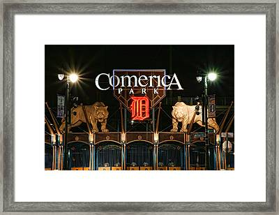 Detroit Tigers - Comerica Park Framed Print by Gordon Dean II