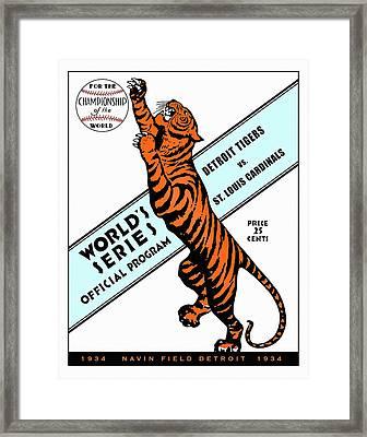 Detroit Tigers 1934 World Series Program Framed Print by Big 88 Artworks