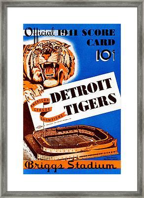 Detroit Tigers 1941 Scorecard Framed Print by Big 88 Artworks