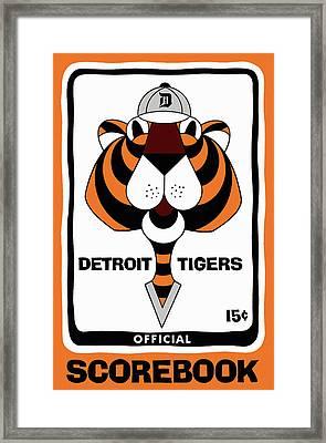 Detroit Tigers 1965  Vintage Scorebook Framed Print by Big 88 Artworks