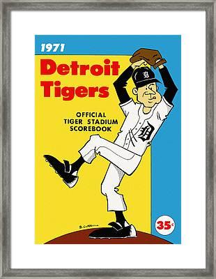 Detroit Tigers 1971 Scorebook Framed Print by Big 88 Artworks