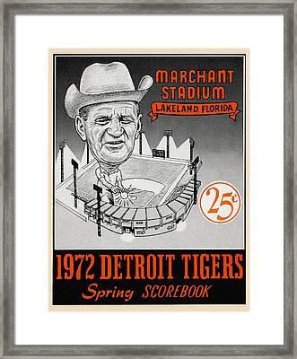 Detroit Tigers 1972 Spring Scorebook Framed Print by Big 88 Artworks
