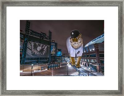 Detroit Tigers At  Comerica Park Framed Print by Nicholas  Grunas
