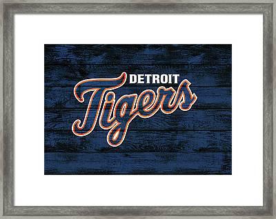 Detroit Tigers Barn Door Framed Print